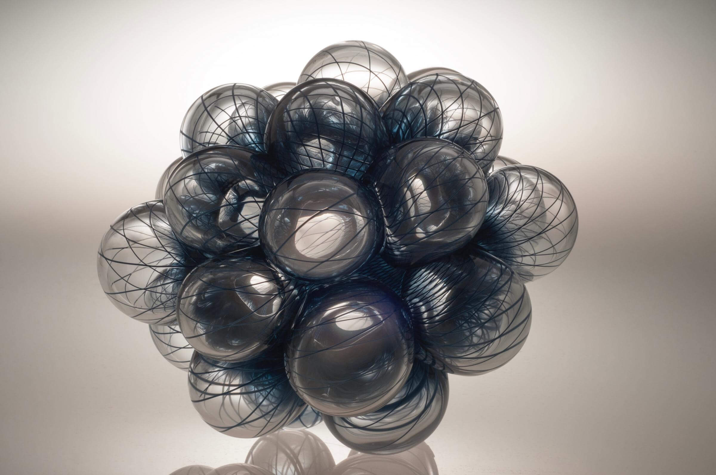 cluster of clear glass balls